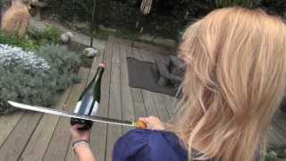 Repeat youtube video Sabering a Champagne Bottle