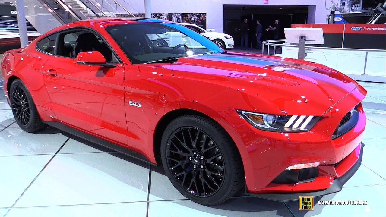 2017 ford mustang gt premium coupe exterior and interior walkaround 2017 detroit auto show. Black Bedroom Furniture Sets. Home Design Ideas