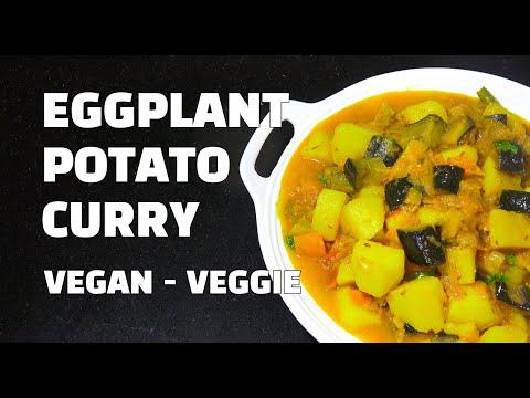 How to make Potato Curry - Potato Eggplant Curry - Vegan Youtube