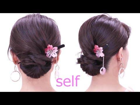 ロープ編みシニヨン/japanese-yukata-hairstyles/chie's-hair