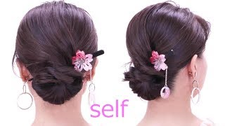 6 Minutes Quick Hair Arrangement /Self Made Hair Styles / You Can Do It Yourself
