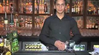 Hemant Pathak From The Blue Bar Making His Award Winning Cocktail
