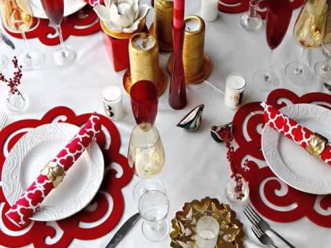 Red White Table Decorations The Color To Life Modern Living Style Ideas