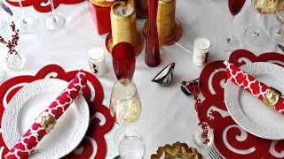 Red & White Table Decorations - The Color Red To Life | Modern Living Style Ideas