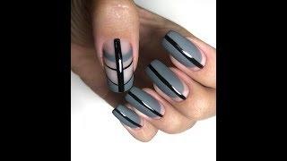 Осенний дизайн ногтей 2018. Преображение ногтей. Геометрия в дизайне ногтей