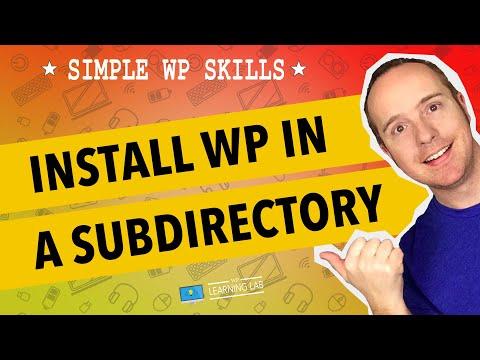 Installing wordpress in home directory
