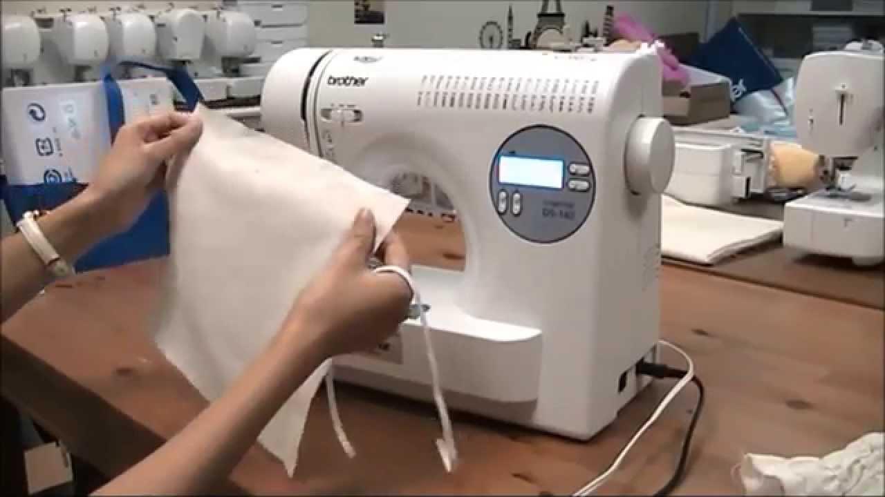 [brother] 家用縫紉機 - 縫紉技巧教學 縮鈒及縫紉橡根 - YouTube