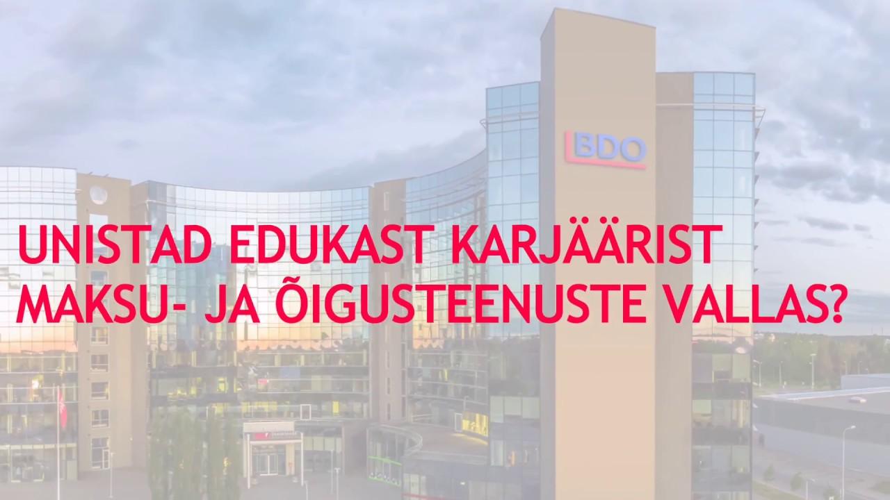 BDO Eesti meeskond otsib oma Tax & Legal tiimi uusi liikmeid!