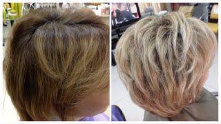 Окрашивание волос: Колорирование на русые волосы // Color highlights on brown hair