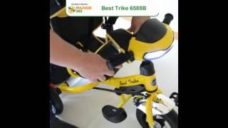 малюк365.pp.ua | Демонстрация трехколесного велосипеда Best Trike Lamborghini 6588B с фарой