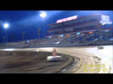 Lucas Oil Speedway B-Mod heat race 7/20/13