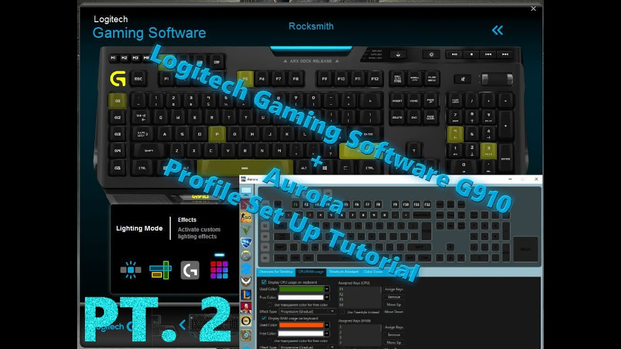 Logitech Gaming Software G910 + Aurora Profile set up for any game