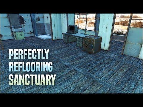 Perfectly Reflooring Sanctuary 🏡 Fallout 4 No Mods Shop Class