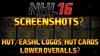 NHL 16 Screenshots? - HUT/EASHL LOGOS, HUT CARDS, LOWER OVERALLS?(Thanks for 8k Subs guys! Next Stop? 9k! Remember to leave a like, comment, favorite, and subscribe for more NHL content! Twitter: https://twitter.com/BOJoeKO ..., 2015-06-15T23:05:13.000Z)