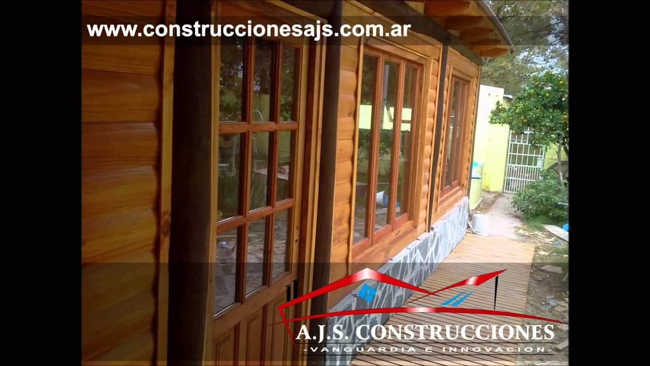 Construccion de caba as y casas madera y tronco pergolas for Construccion casas
