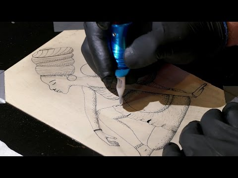 """""""Mother"""" tattoo timelapse (artificial skin)"""