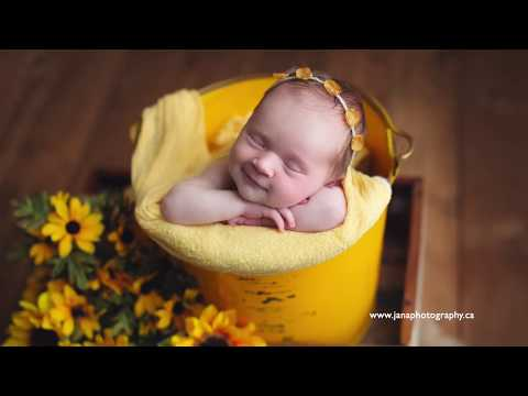 how pose newborn baby in bucket photography tutorial thumbnail