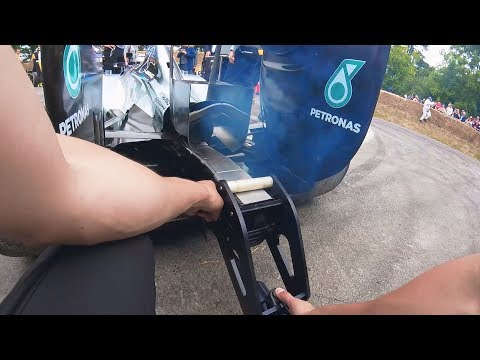 A Day in the Life of an F1 Show Car Team - Goodwood 2017