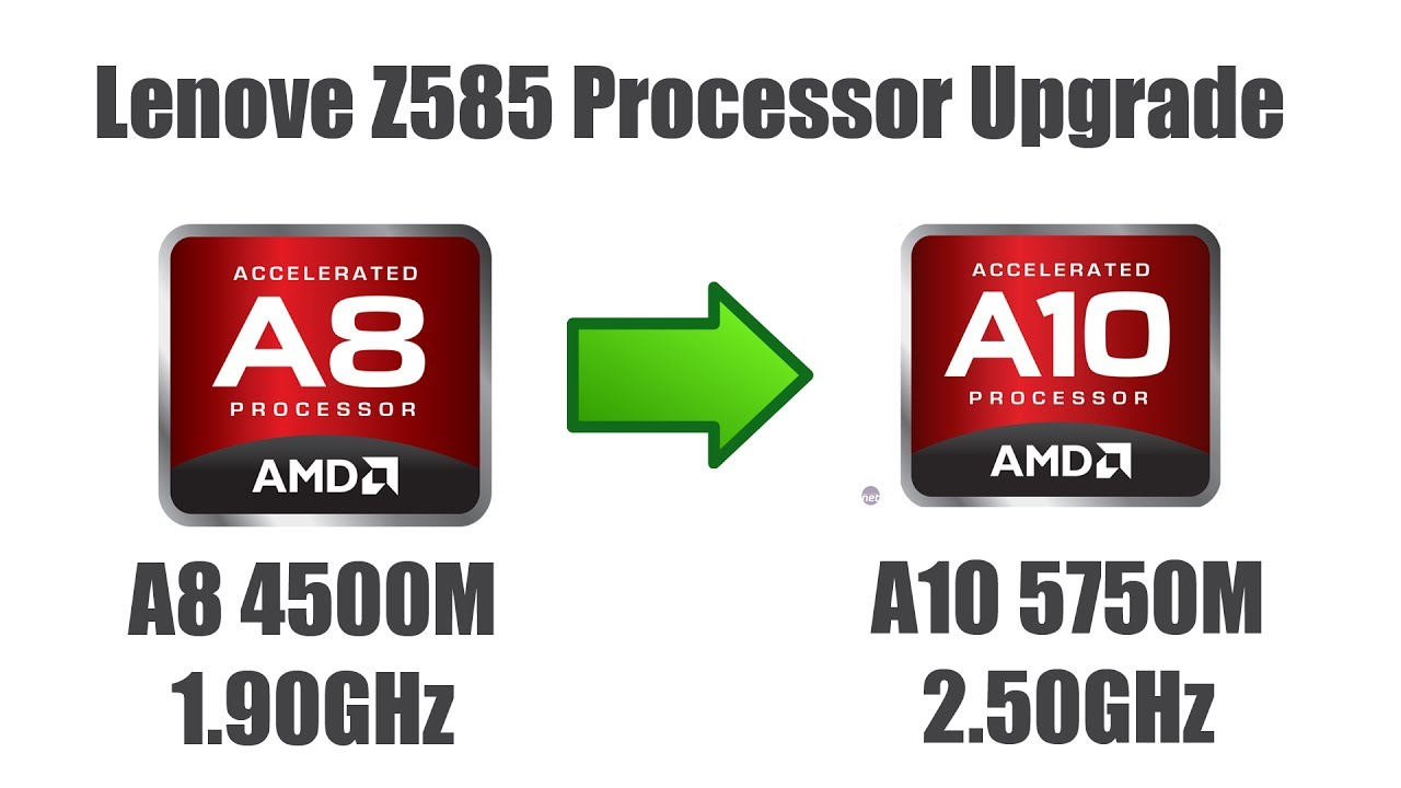 How To Upgrade Laptop Cpu Apu Processor From Amd A 8 4500m To Amd A 10 5750m On Lenovo Z585 Ideapad Youtube