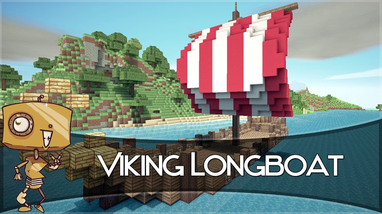 Minecraft Let's Build - a Viking Longboat! - YouTube