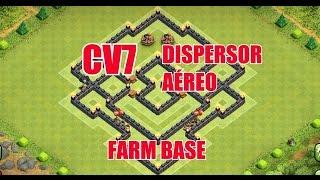 CLASH OF CLANS - MELHOR LAYOUT CV7 FARM - ( BEST TH7 FARMING BASE ) - 2015