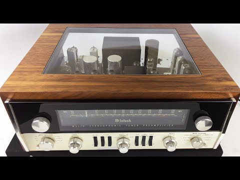 SkyFi Audio Review, McIntosh MX110 Tuner Preamp, All Tube with Custom Cabinet