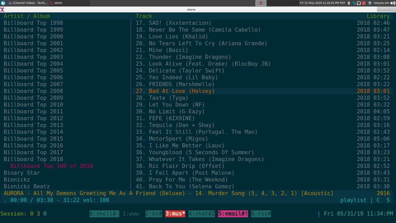 Cmus 2 8 0 Multiple Playlist - Linux TUI