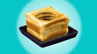 Stich 6 Löcher in Toast für dieses Sandwich. Wir versprechen: Es lohnt!