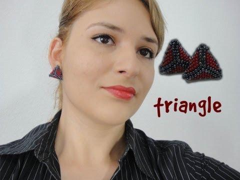 DIY♥Crea tus accesorios aretes triangle