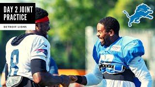 Detroit Lions VS Patriots Joint Practice Day 2! PJ Johnson FIGHT! Detroit Lions Talk