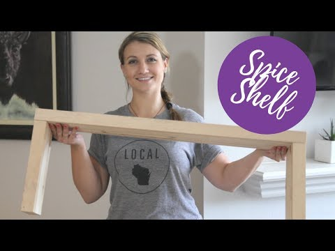 DIY Spice Shelf