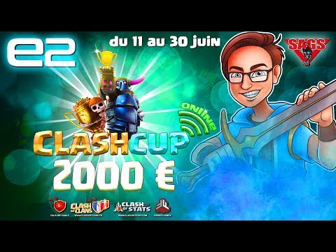 Download Youtube: CLASH OF CLANS - CLASH CUP 2017 ONLINE ! ROUND 6 - 2000€ A GAGNER -  Lhirarmy VS les vieux GDC