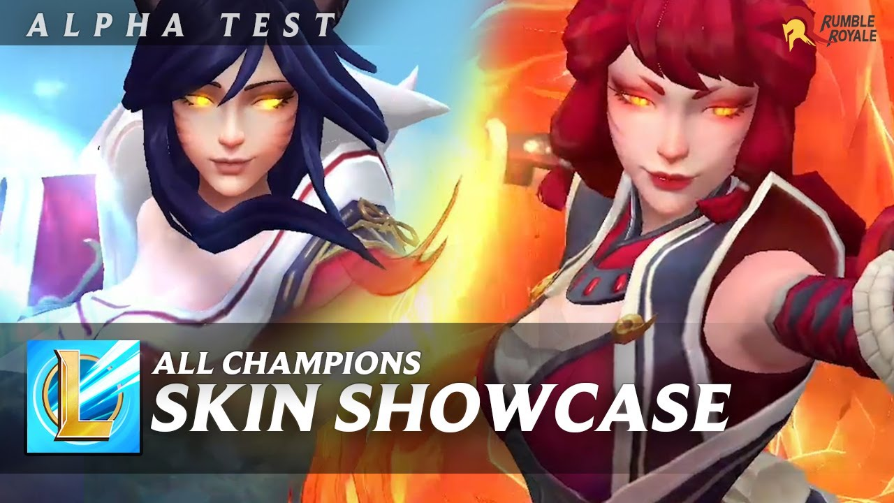 WILD RIFT ALPHA TEST: ALL CHAMPIONS SKIN SHOWCASE