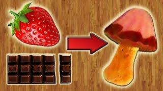 Шоколадно - Клубничное Мороженое в форме грибов