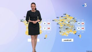 SUPERBE VIRGINIE HILSSONE DANS CETTE ROBE POUR LE JOURNAL MÉTÉO DE FRANCE 3 LE 18 MAI 2021