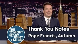 Thank You Notes: Pope Francis, Autumn