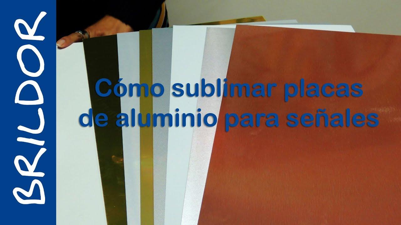 Sublimar placas de aluminio para se ales youtube - Placas de poliester ...