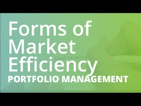 Forms of Market Efficiency | Portfolio Management (FINC201)