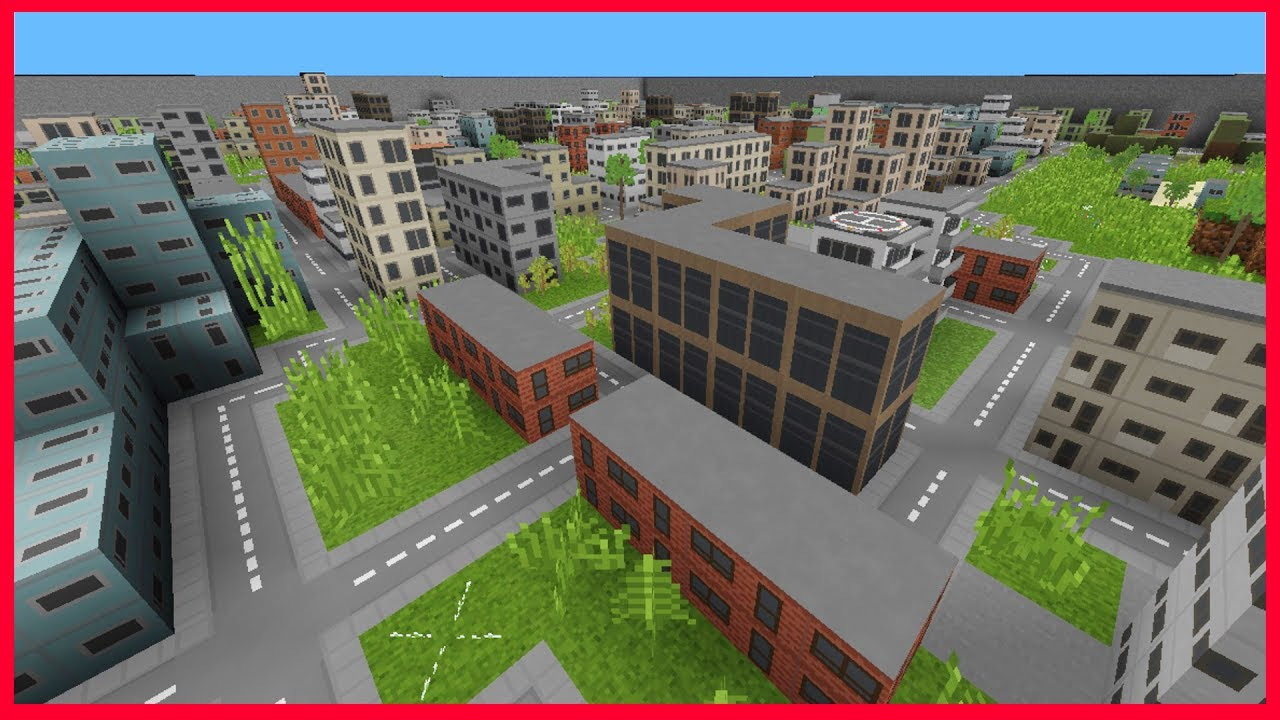 minecraft pe huge mini city map mini city texture pack for ios android mcpe 1 1 1 0. Black Bedroom Furniture Sets. Home Design Ideas