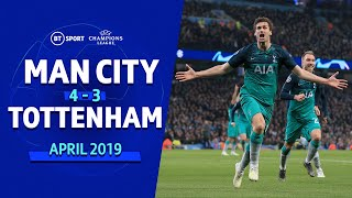 Man City vs Spurs (4-3) (Spurs go through on away goals) | UEFA Champions League Highlights