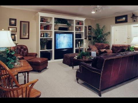 Family Room Design With Entertainment Center - YouTube