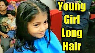 Young Girl Super Long Hair Bob Undercut Haircut /extreme short Indian women Girl hair cutting Saloon