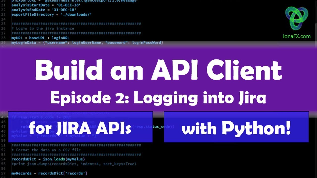 Create a Python App to extract data from the Jira REST APIs