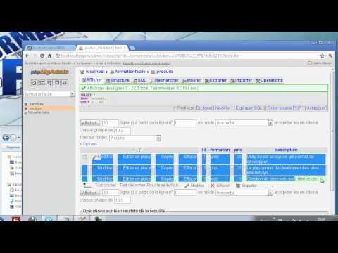 8 - PHP & MySQL - Lire dans une base de données avec PHP