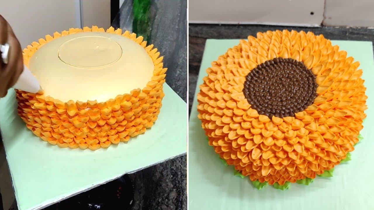 SunFlower Cake | SunFlower Cake Kaise Bante Hai | SunFlower Cake Birth Day Cake | Sunil Cake Master