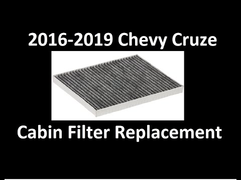 2016-2019 Chevy Cruze Cabin Filter Replacement
