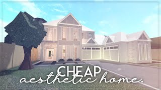 Roblox || Welcome to Bloxburg: Cheap Aesthetic Home || Speedbuild