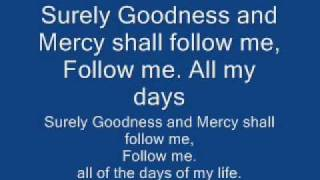 surely goodness and mercy lyrics, israel houghton