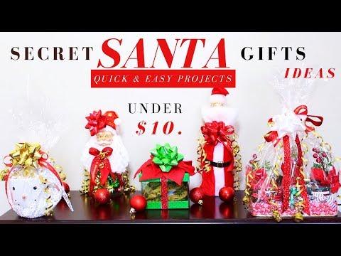 DIY SECRET SANTA GIFT IDEAS | DOLLAR TREE CHRISTMAS GIFTS IDEAS | QUICK, EASY & UNDER $10.
