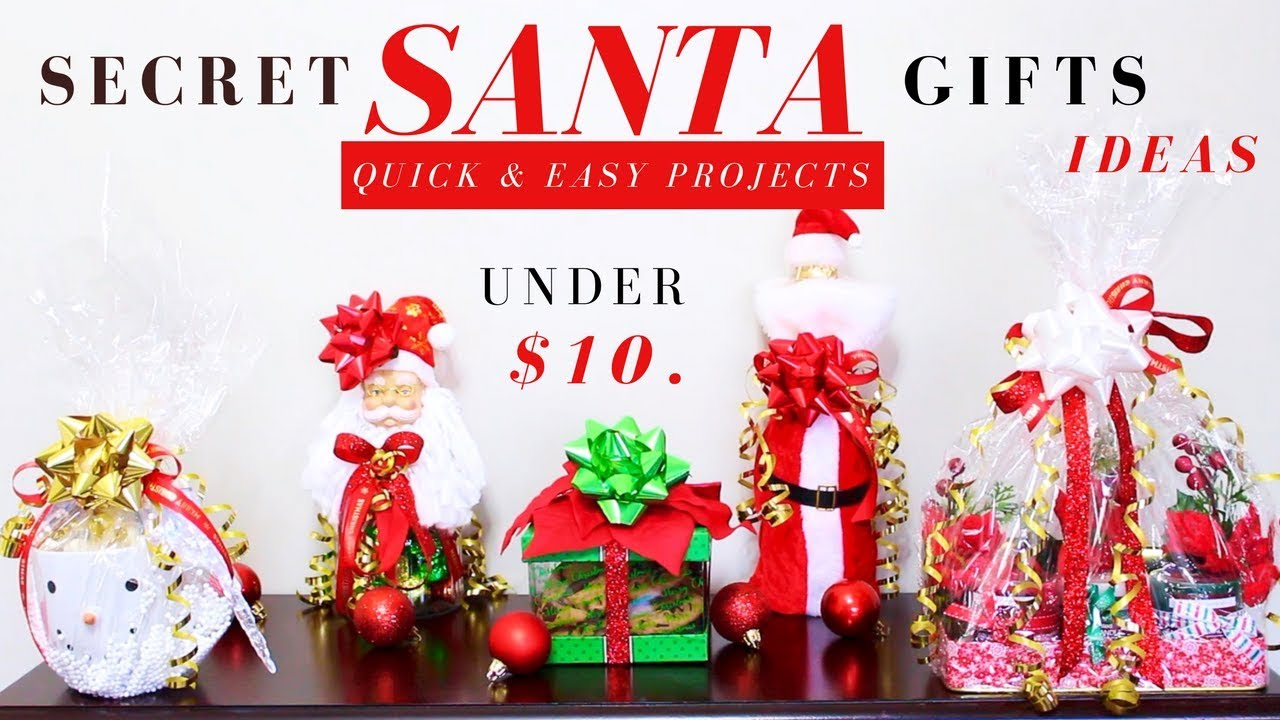 DIY SECRET SANTA GIFT IDEAS | DOLLAR TREE CHRISTMAS GIFTS IDEAS ...